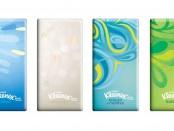 Le nuove grafiche dei fazzoletti Kleenex